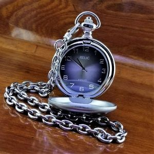 NEW RELIC by Fossil Stainless Steel Pocket Watch